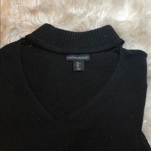 Turtle neck/ choker sweatshirt